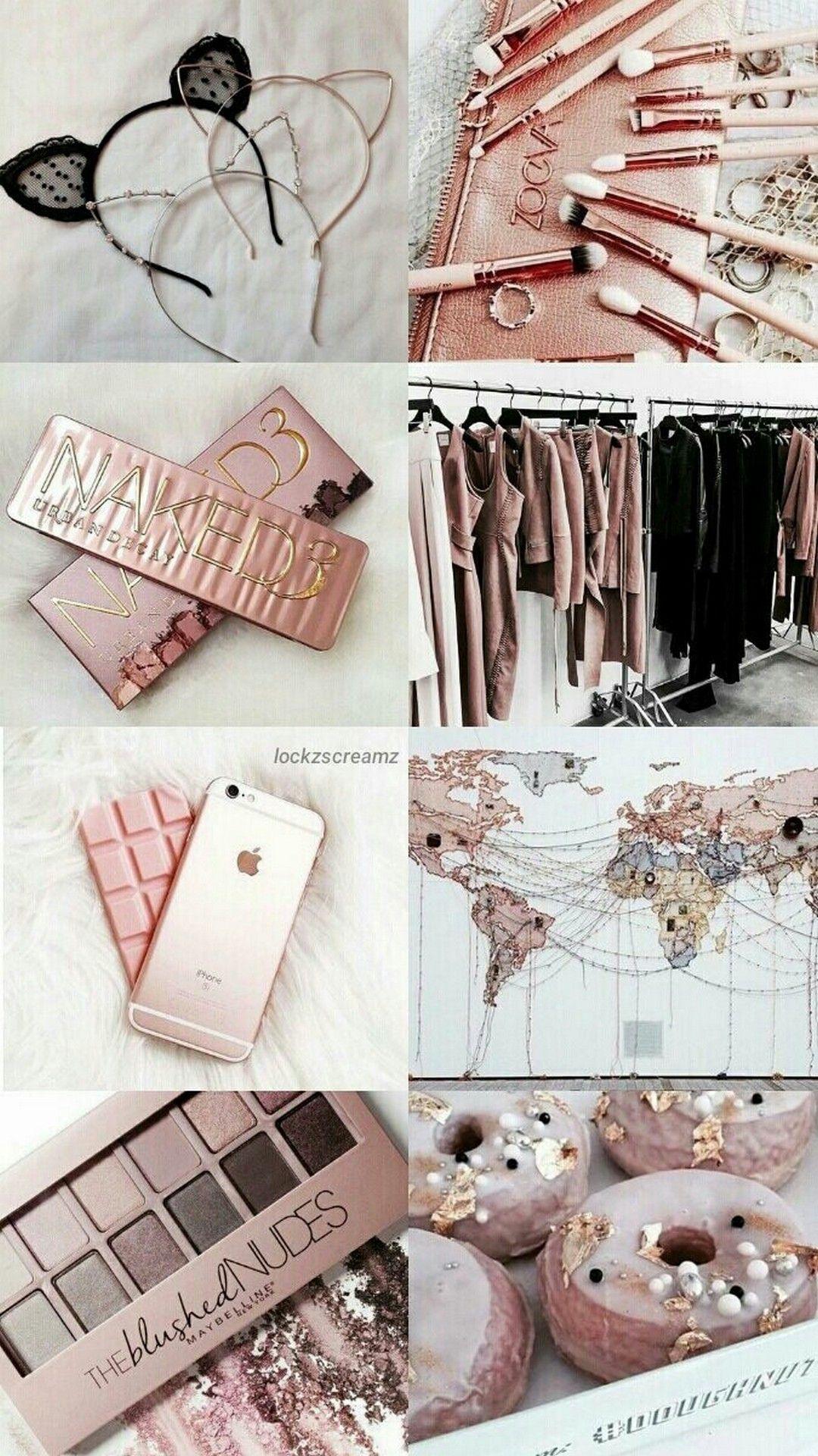 Rose Gold Aesthetic Iphone Wallpaper Tumblr