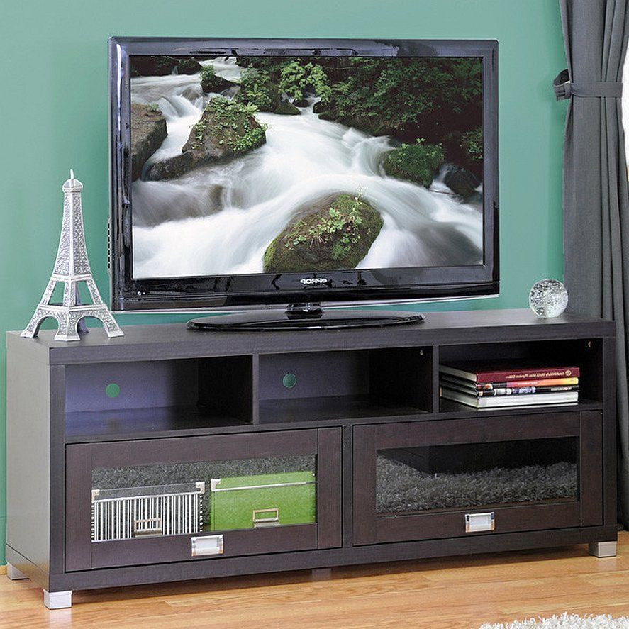 Tv Stand Flat Screen Entertainment Center Wood Cabinet Console  # Meuble Tv Yucca