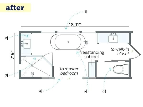 Narrow Bathroom Floor Plans