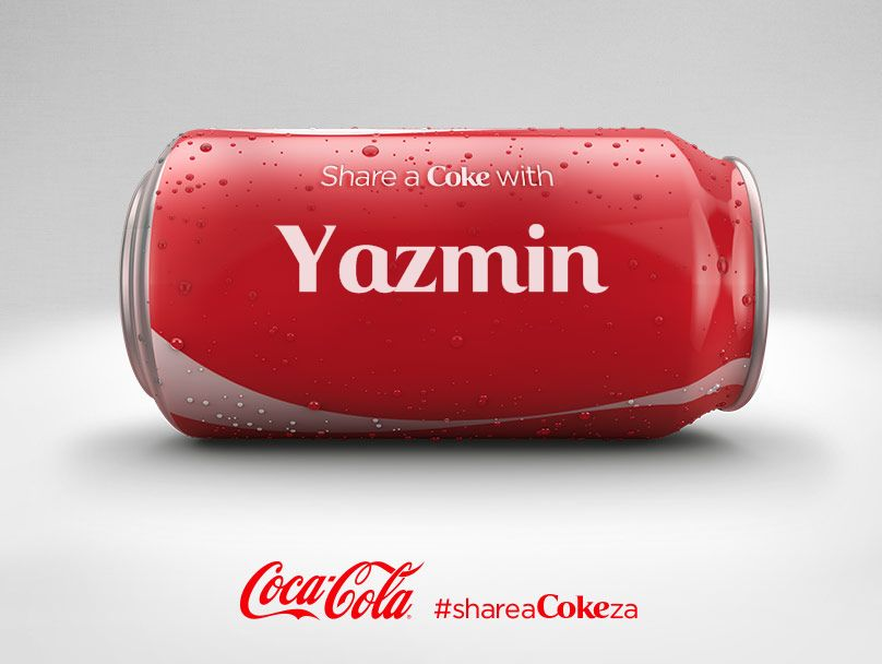 Share a Coke with me --- Yazmin