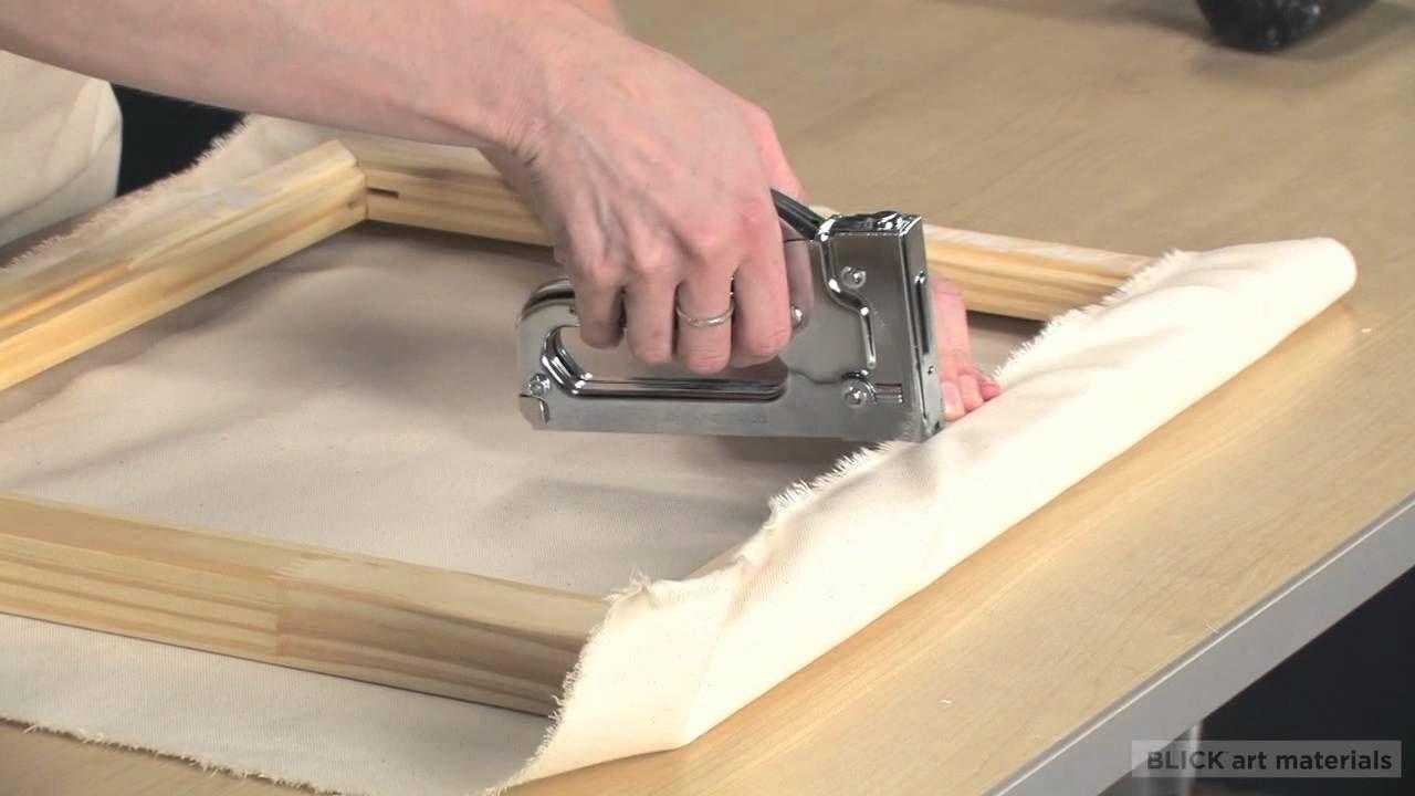How to Stretch Canvas; BlickVideos Diy canvas art, Diy