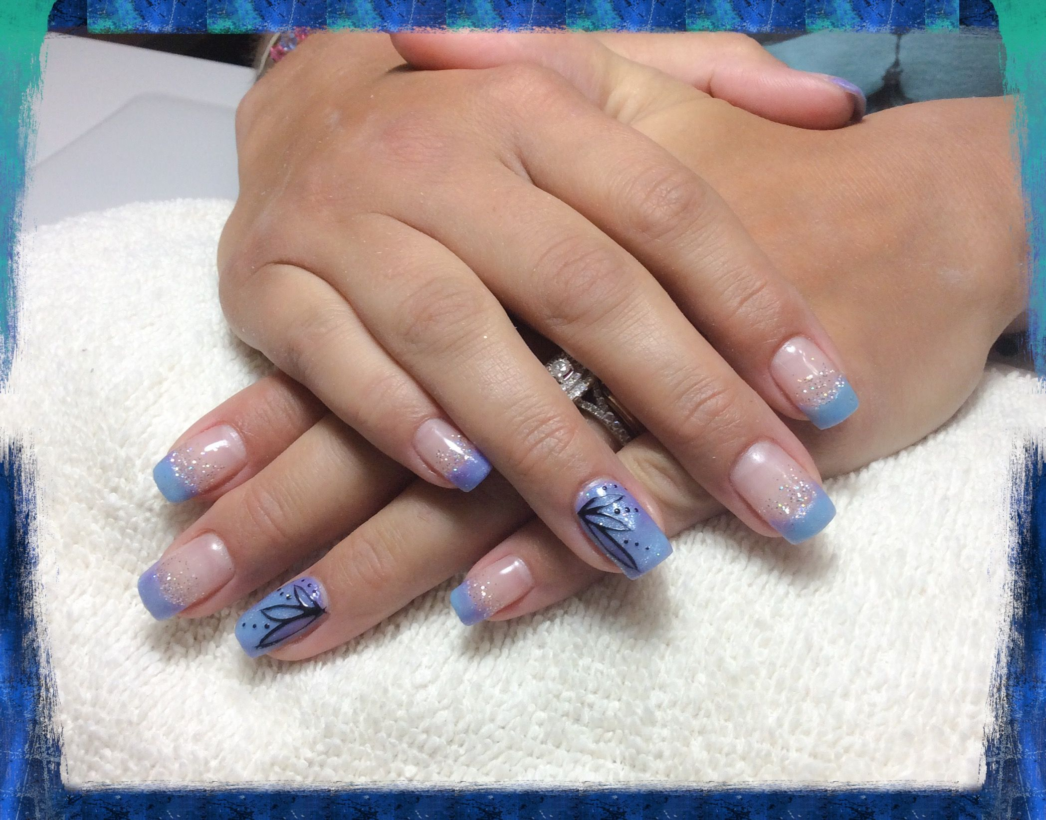 fuzion color changing gel nails with hand painted flowers | GEL ...