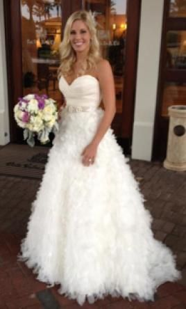 Used Lazaro Wedding Dress 3051 Size 4