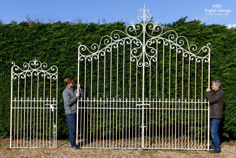 Large French Style Wrought Iron Gates In 2020 Wrought Iron Gates