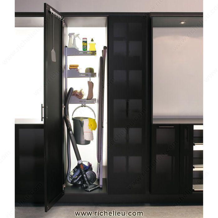 Broom Closet Cabinet Plans: Storage System For Broom Closet-2