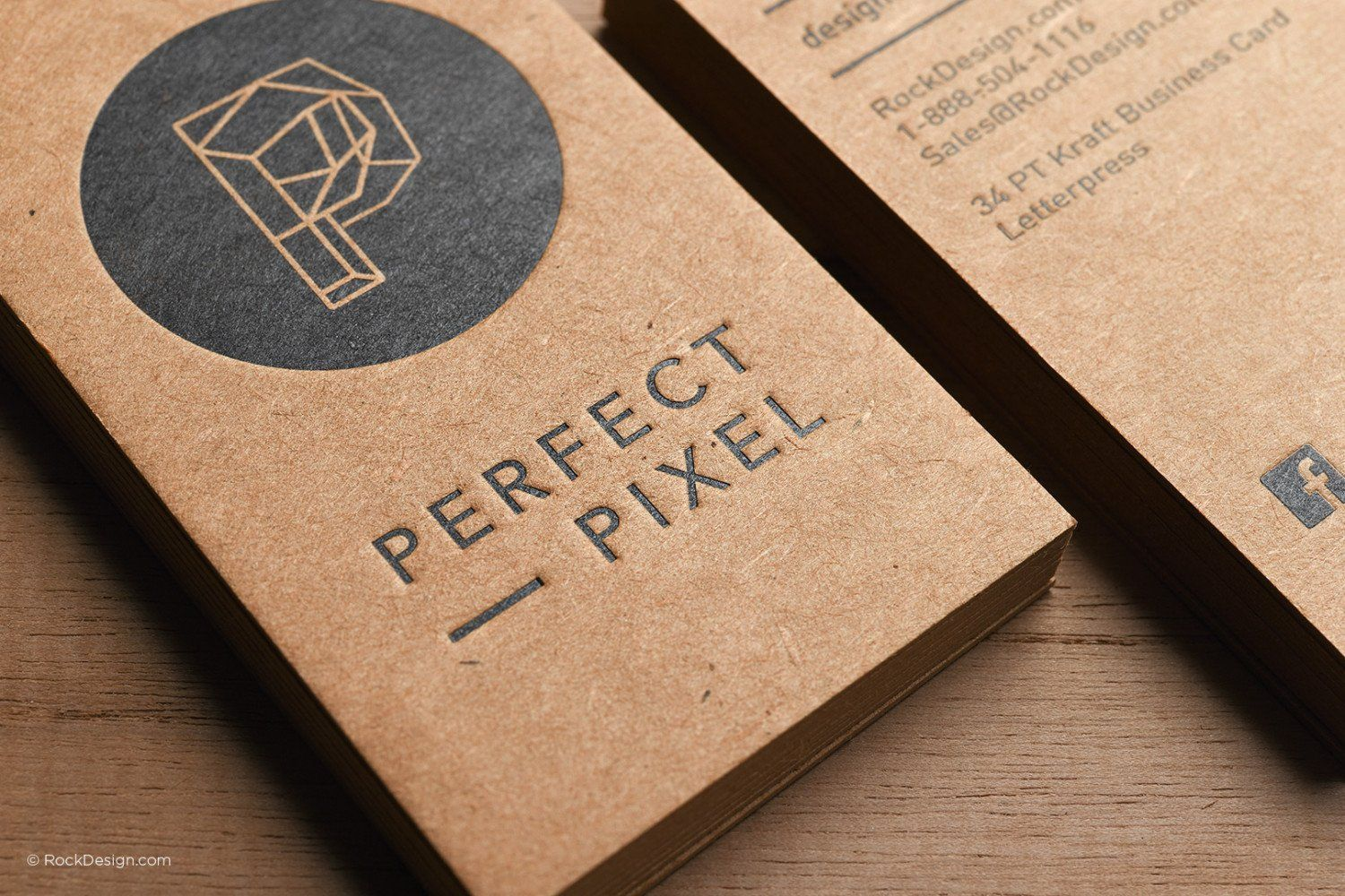 Free Business Cards Kraft Paper Template Design Free