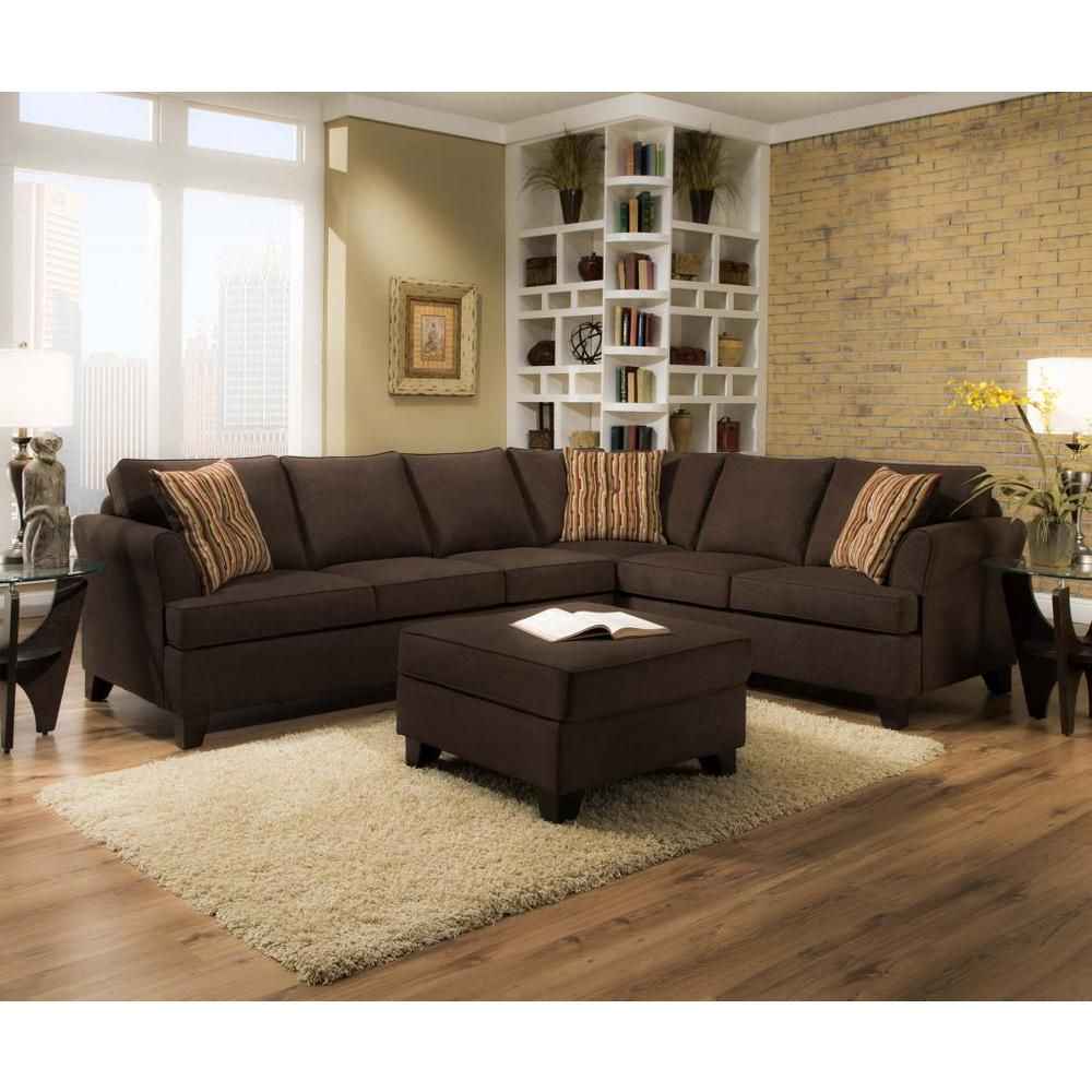 Two Piece Living Room Set Made To Order Simmons Upholstery Diver Chocolate Two Piece