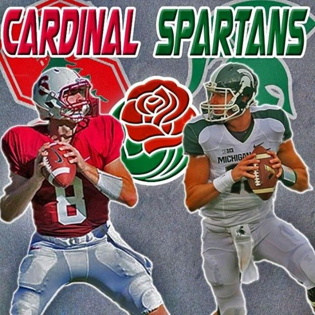Keith Hogan And Conner Cook Rosebowl Bcs Cardinal Stanford Sparty Spartans Msu Spartans Football Michigan State Spartans Football Michigan State Spartans