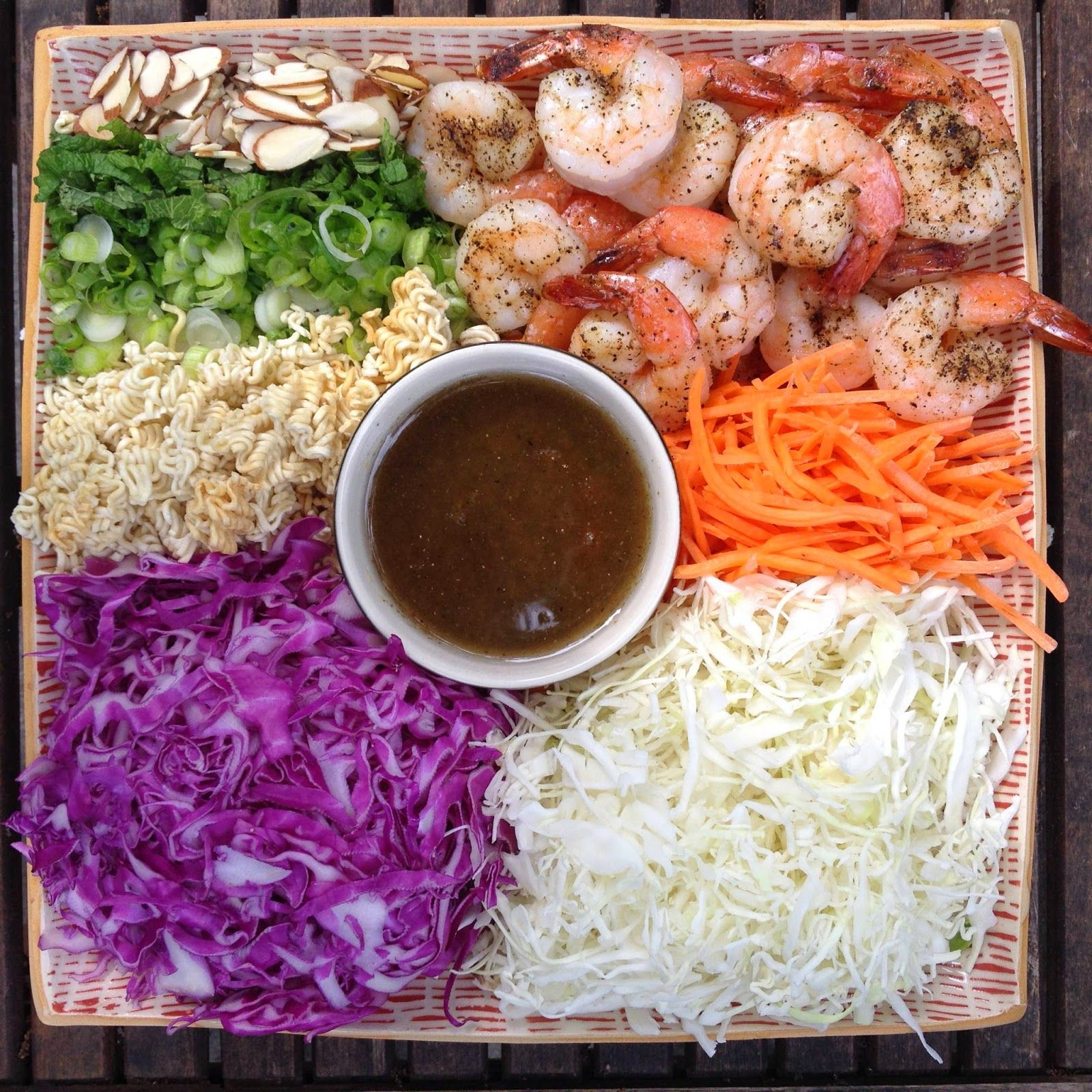 designer bags and dirty diapers: Asian Chopped Salad with Roasted Shrimp