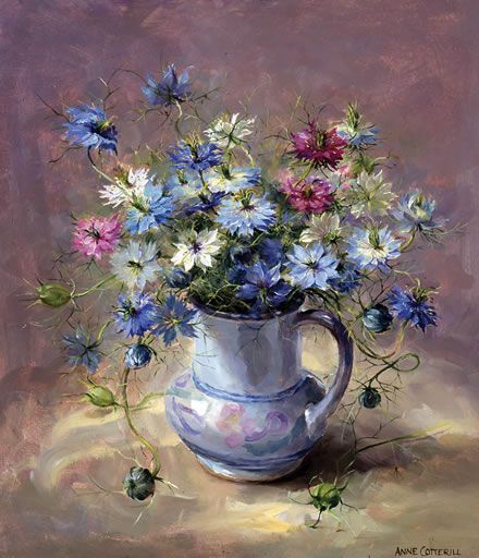 Anne cotterill print no 390 of 850 limited edition flowers in a.