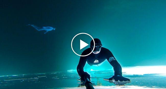 Mergulhador Capta Imagens Impressionantes Em Lago Congelado No Canadá