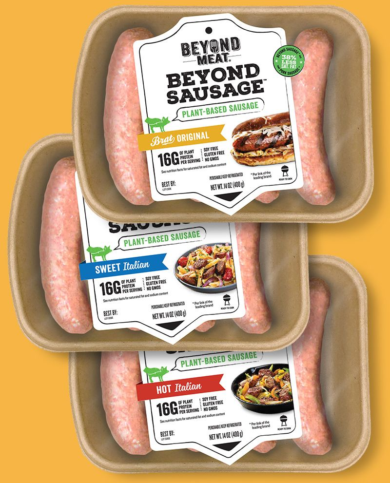 Beyond Meat Beyond Sausage Soy Free Gluten Free No Gmos Full Of Flavor And Texture Vegan Grocery Vegan Grocery List Vegan Sausage