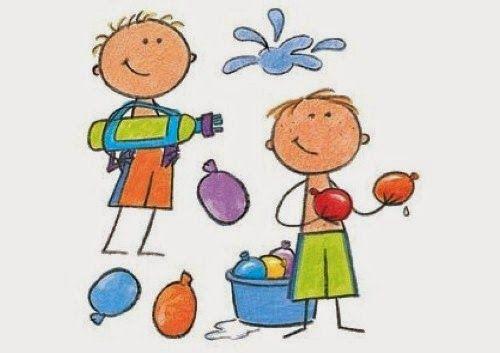Actividades Para Educacion Infantil Juegos De Agua Para El Calor Juegos De Agua Para Ninos Dibujos Faciles Dibujos De Juegos