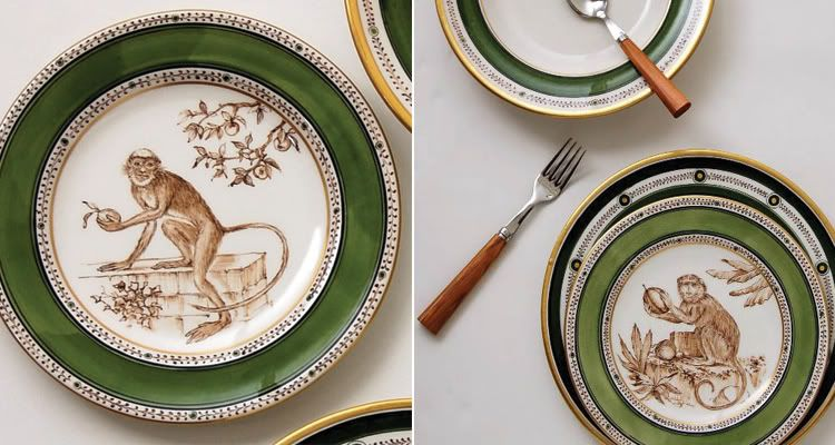 Going bananas over monkey motif on the table & Going bananas over monkey motif on the table | Monkey Love ...
