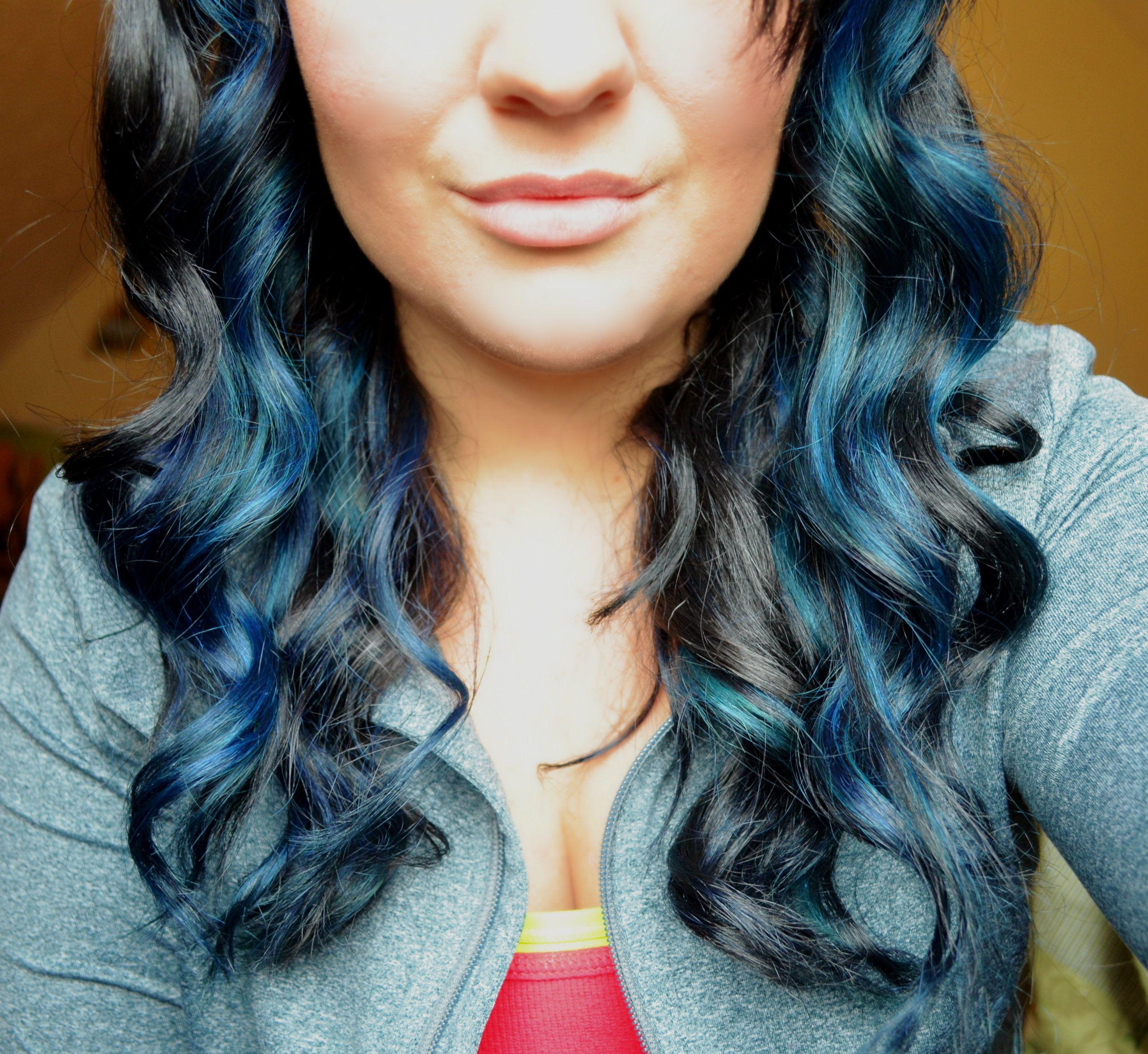 Blue Highlights Makeup Hair Pinterest