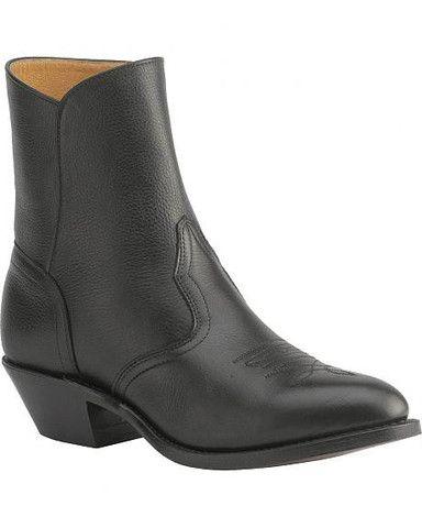 Boulet Mens Western Zipper Boots Cowboy Toe 1863 Mens Western