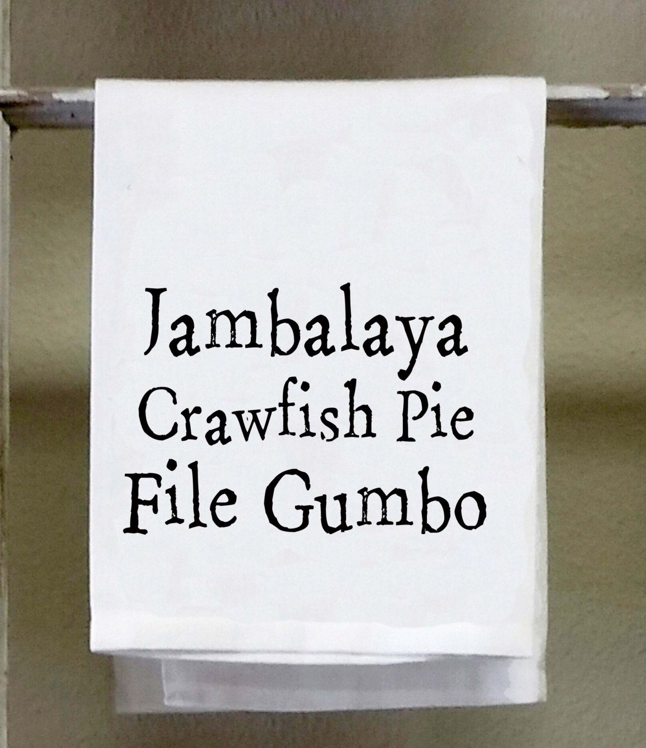 kitchen towel dish towel jambalaya crawfish pie file gumbo funny kitchen - Funny Kitchen Towels