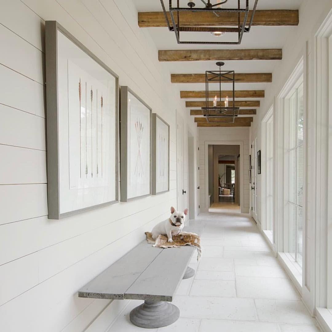 Hallway Farmhouse Decor: Farmhouse Entry And Hallway. Perfection In White And