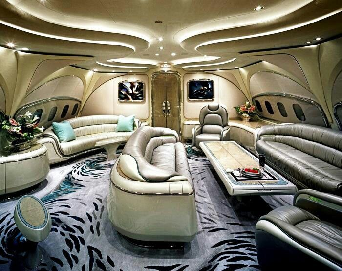 Gorgeous interior for a private Jet