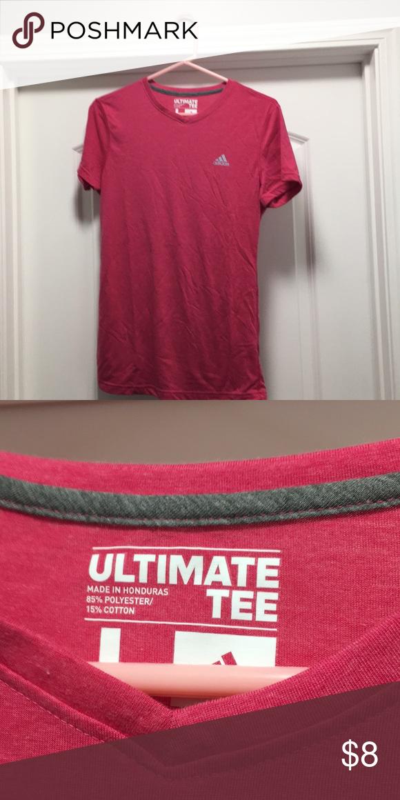 "big sale 49be5 1e4c9 Adidas t shirt, Pink Adidas ""Ultimate Tee"". Never worn. Fuchsia adidas Tops  Tees - Short Sleeve"