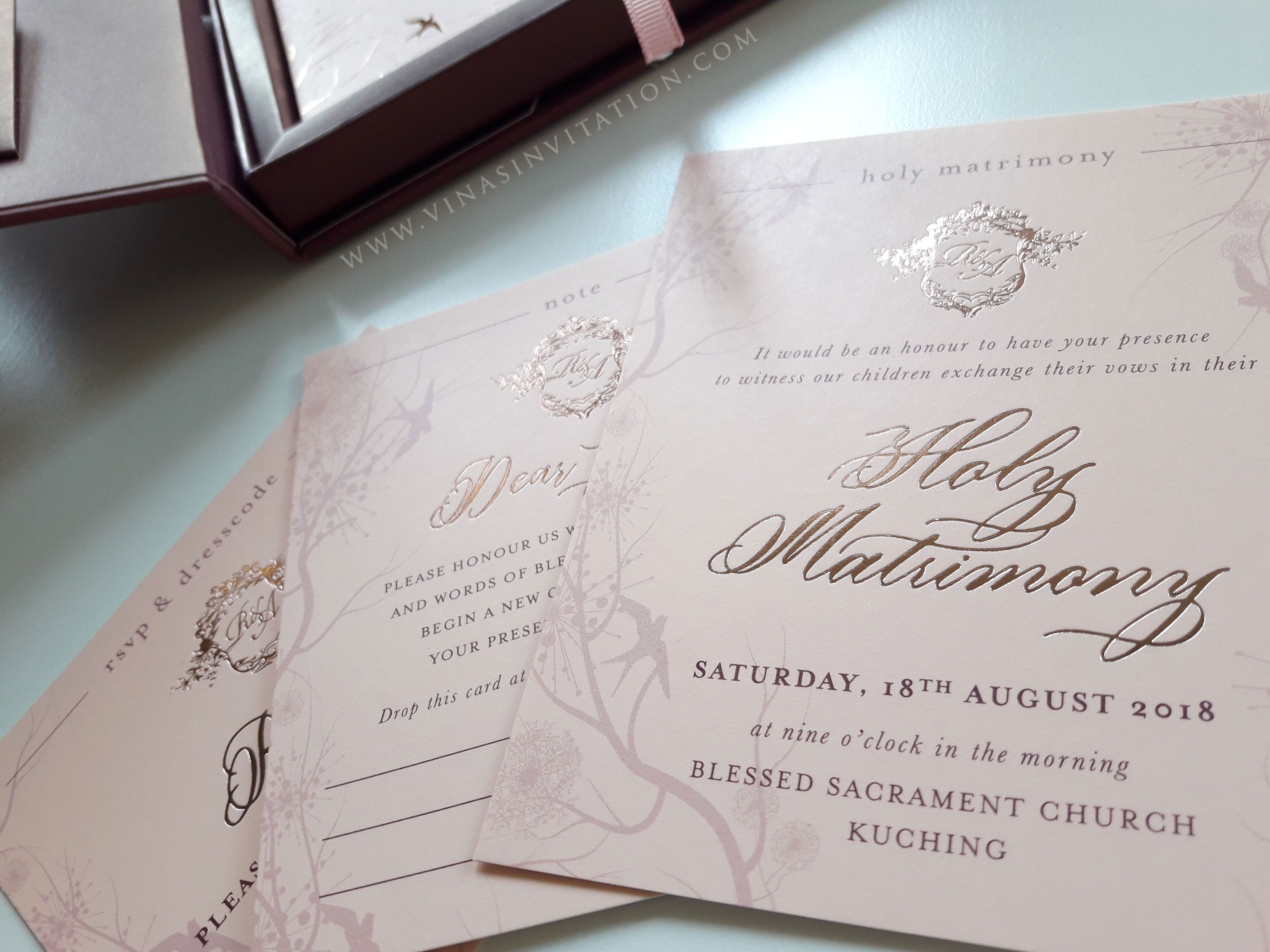 Vinas Invitation Simple Elegant Natural Theme Purple