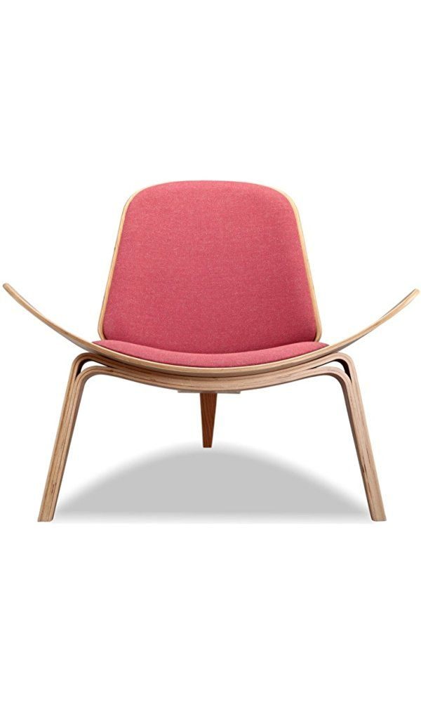 Kardiel Tripod Plywood Modern Lounge Chair, Urban Coral Twill/Oak ...