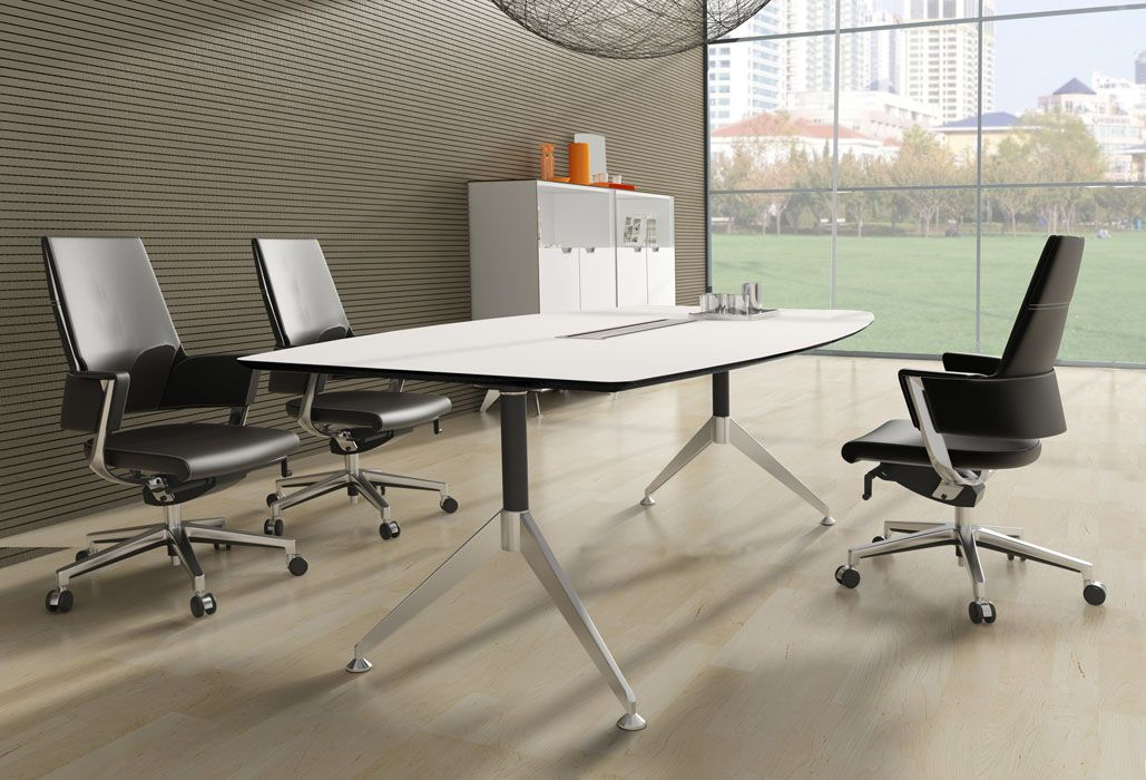 Boardroom Tables For Every Office For Every Budget If You Have A Boardroom And Are Looking To Boardroom Table Contemporary Conference Table White Laminate