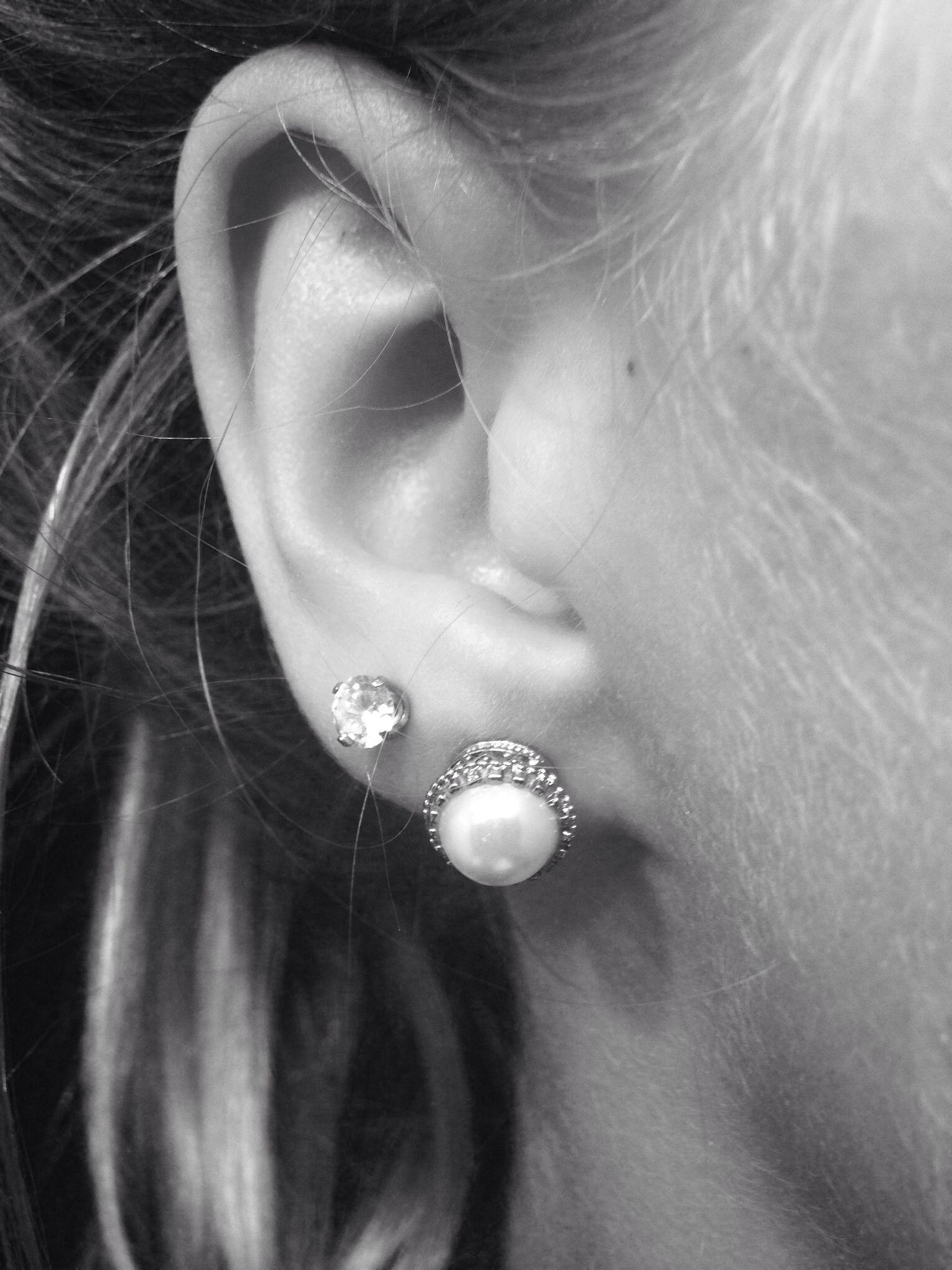 Second ear piercing ideas  Doubles second ear piercings  DOUBLE  Pinterest  Ear