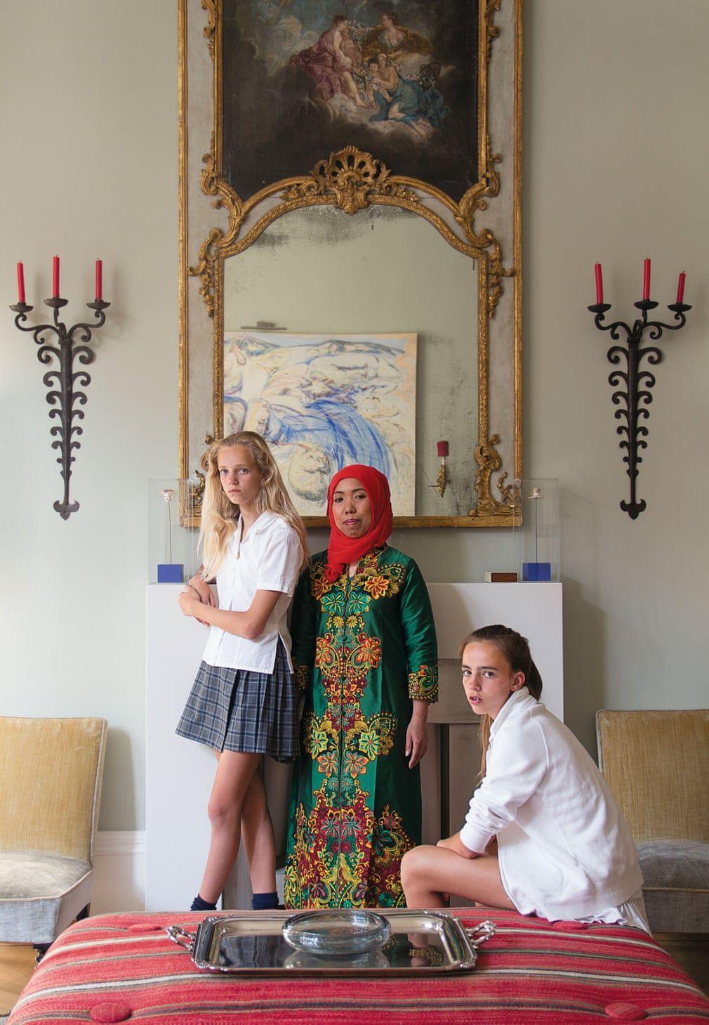 A nanny, a rabbi, a puppy and a parrot portraits of