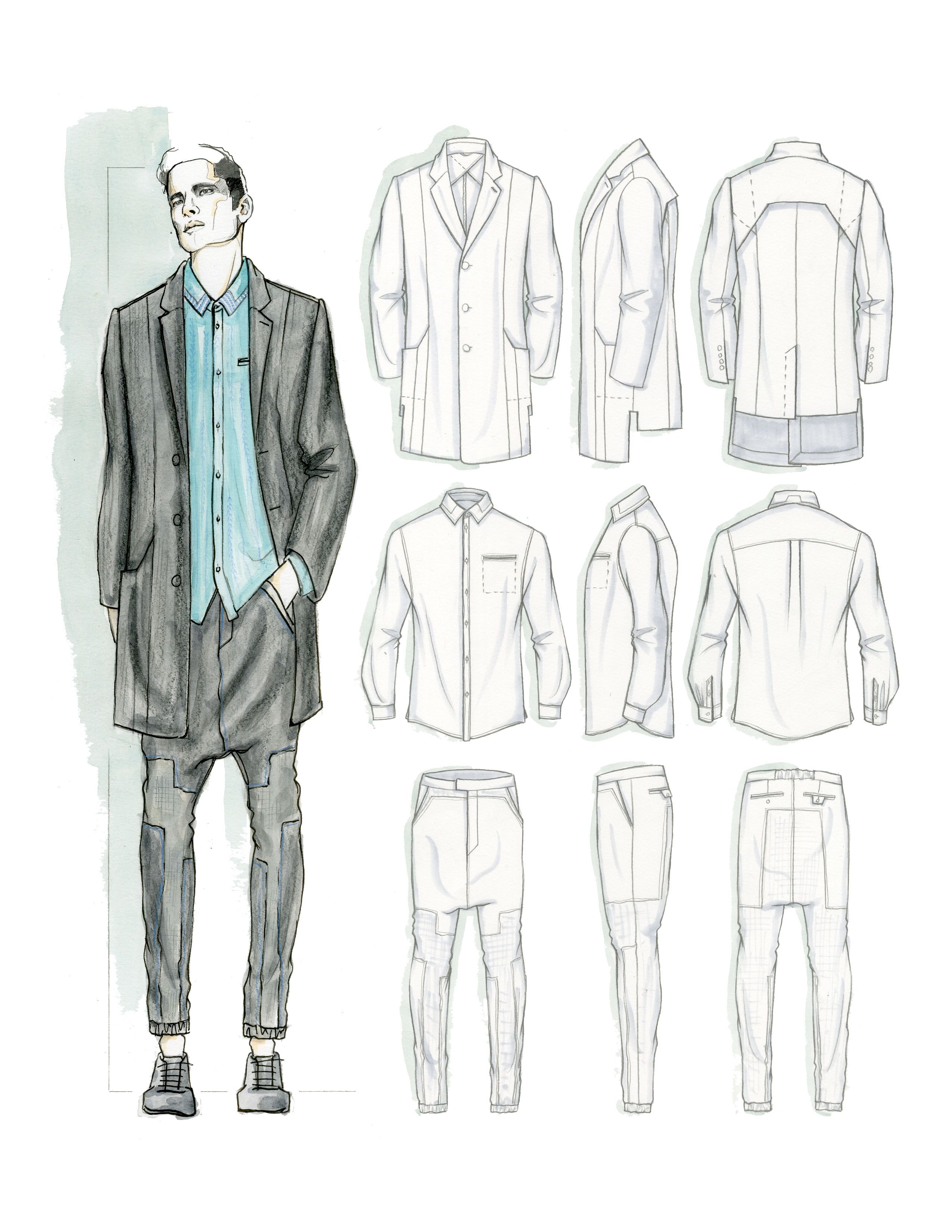 Tailored Menswear inspired project SS 2016 by Rex Kung (3/4)