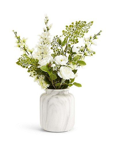 Delphinium Amp Rose In Urn Marks Amp Spencer London House Flowers Artificial Flowers Faux