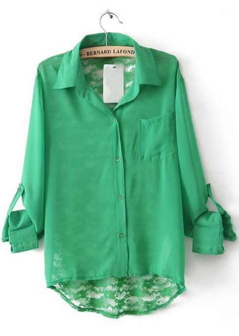 it's emerald and the entire back is lace...love.