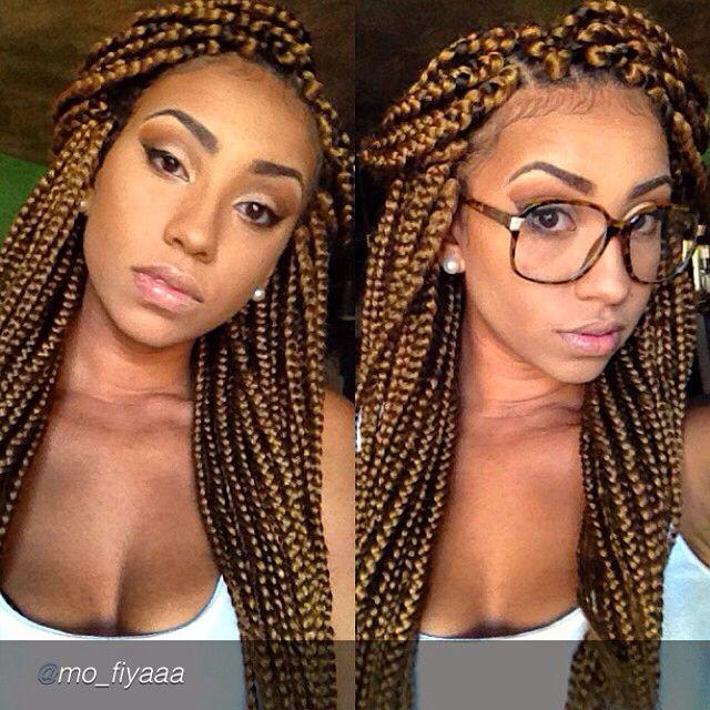 Honey Blonde Box Braids Braided Hairstyles Braided