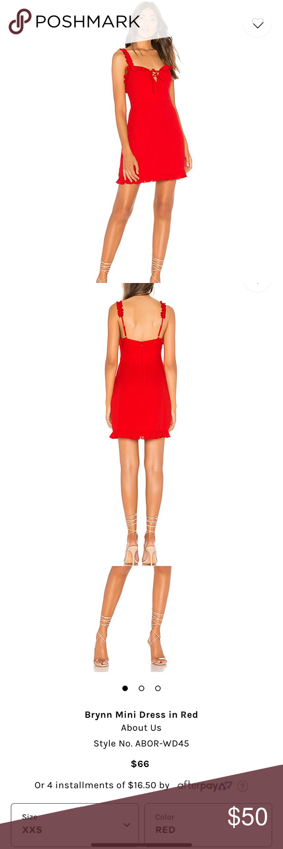 Revolve Nwot Red Mini Dress Red Mini Dress Clothes Design Nordstrom Dresses [ 1740 x 580 Pixel ]