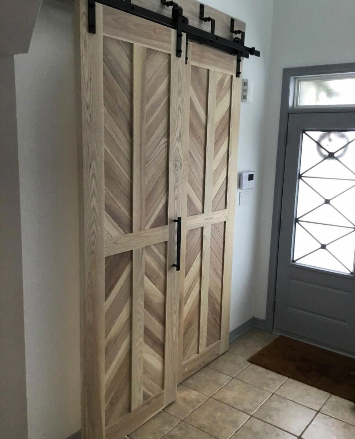 These Beautiful Ash Doors Are Mounted With A Bypass Barn Door