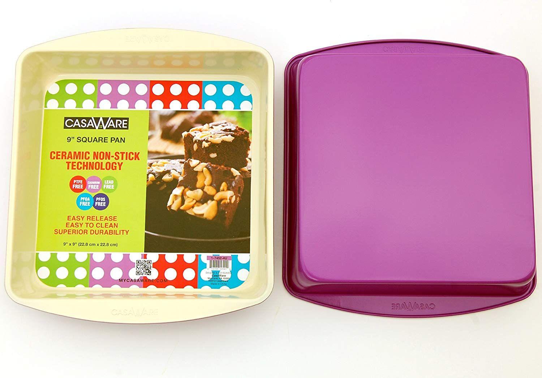 by casaWare casaWare Ceramic Coated NonStick 13.5-Inch Pizza Pan Cream//Red