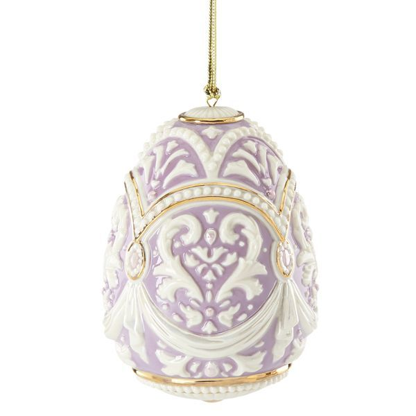 2015 Venetian Grace Egg Ornament By Lenox