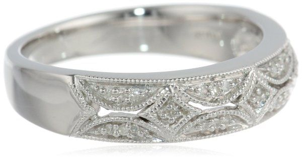 Sterling Silver Diamond Band Ring (0.05 cttw, I-J Color, I3)