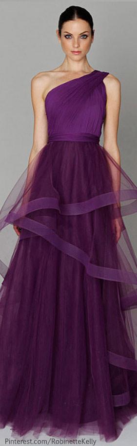 Monique Lhuillier for bridesmaids   glamorous romantic white black tie dream wedding