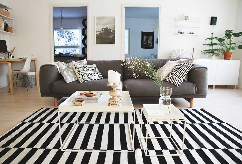 New Muuto Rest sofa, livingroom, Hunajaista blog.