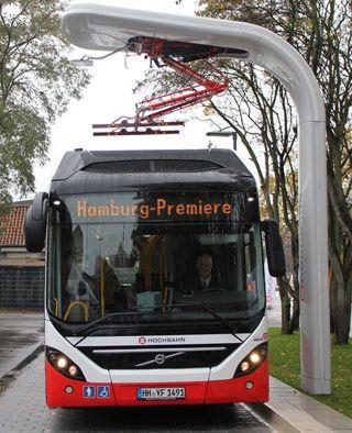 Siemens presenta un sistema de carga eléctrica para autobuses híbridos