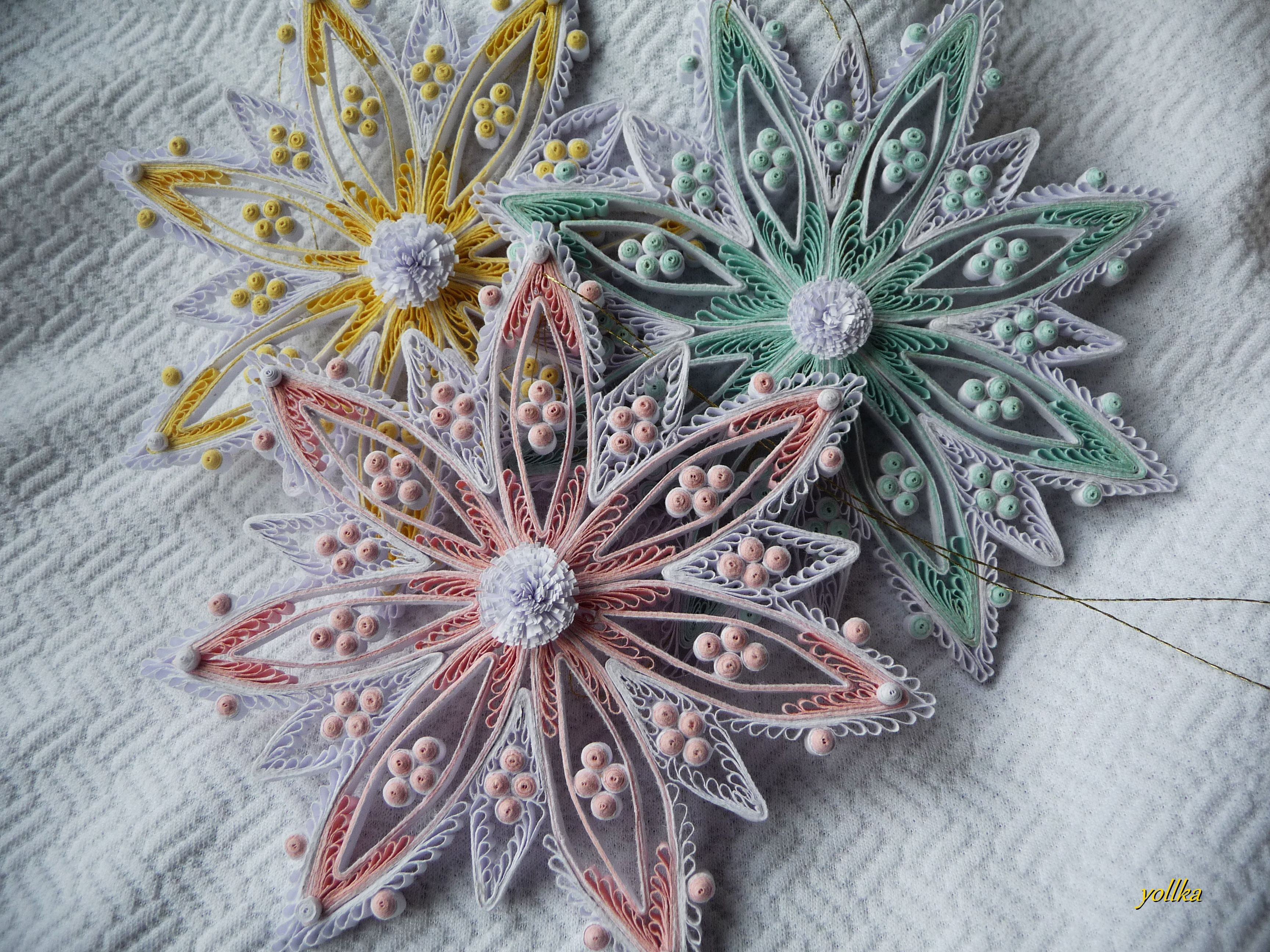Quilling autor mariola ywicka quilling pinterest for Big quilling designs
