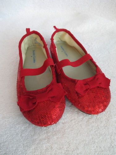 red glitter shoes sz 4 toddler dorothy ruby slippers wizard of oz