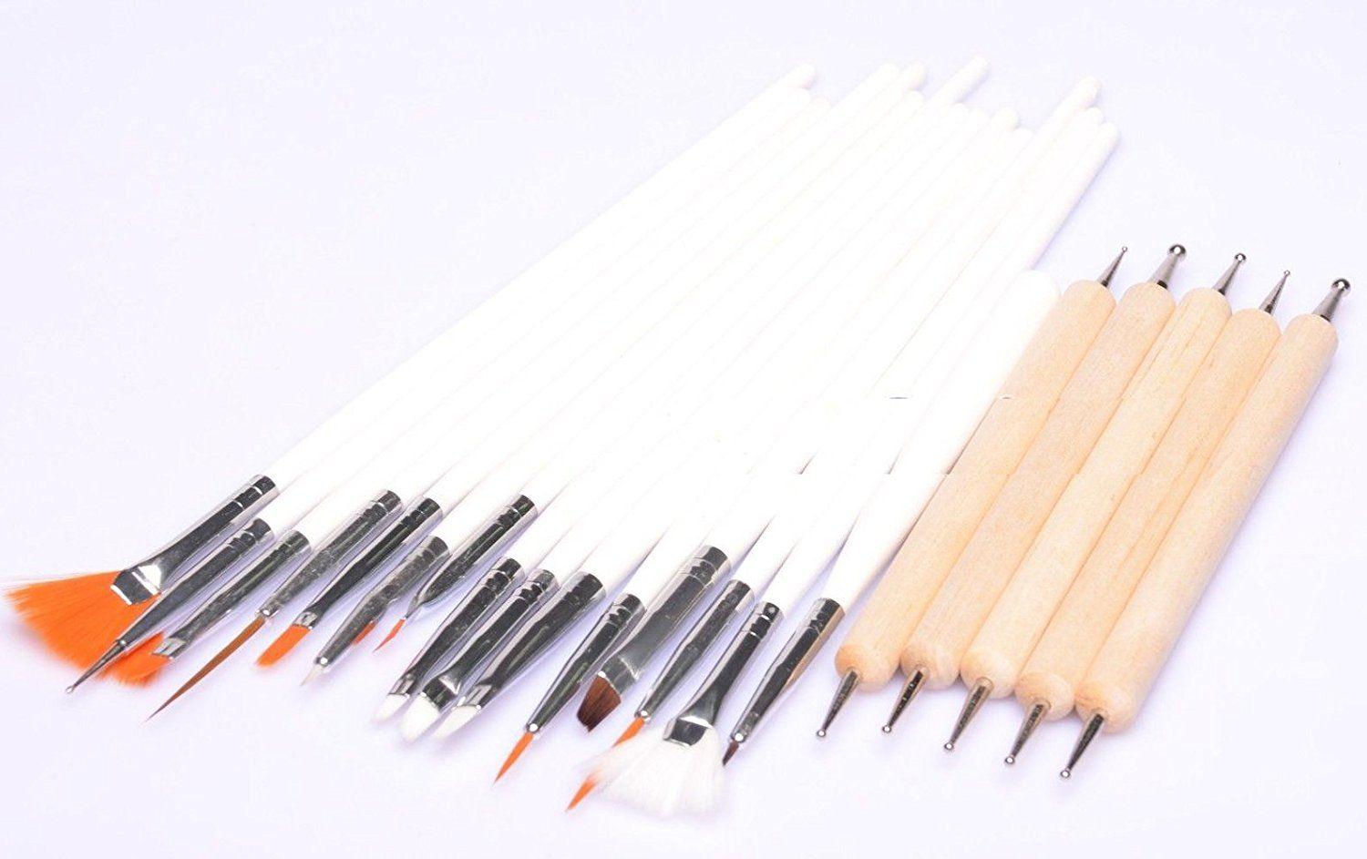 HotEnergy 15 Pcs UV Gel Acrylic Nail Art Painting Detailing Brushes  5 X2 Way Marbleizing Dotting Pen Set USA ship >>> Check out the image by visiting the link.