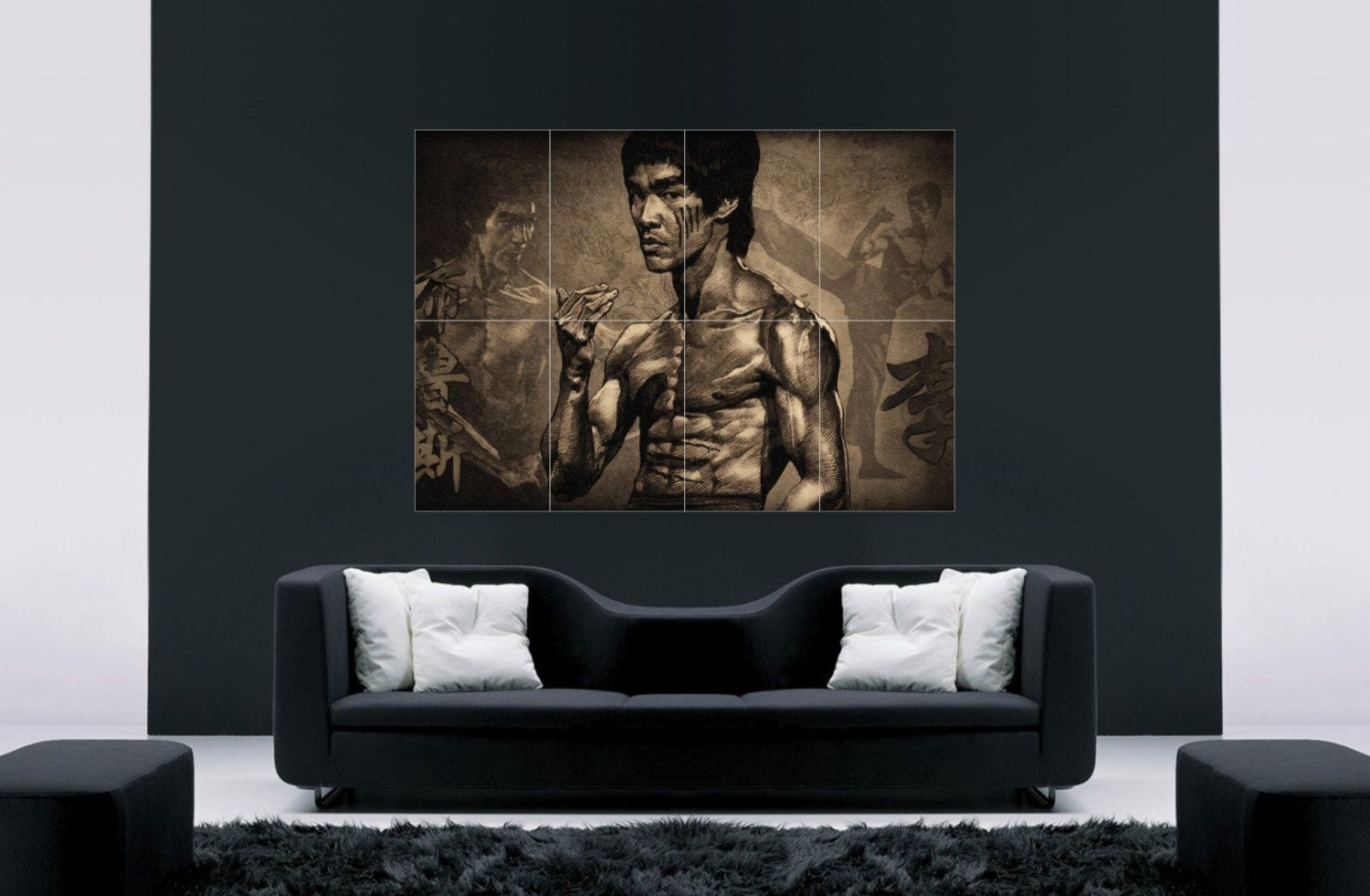 Bruce Lee Martial Arts Movie Wall Decor Wall Art Giant Poster 46 X32 Bruce Lee Martial Arts Wall Art Decor Giant Poster