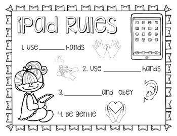 Ipad Rules Printable Coloring Sheet Ipad Rules Printable