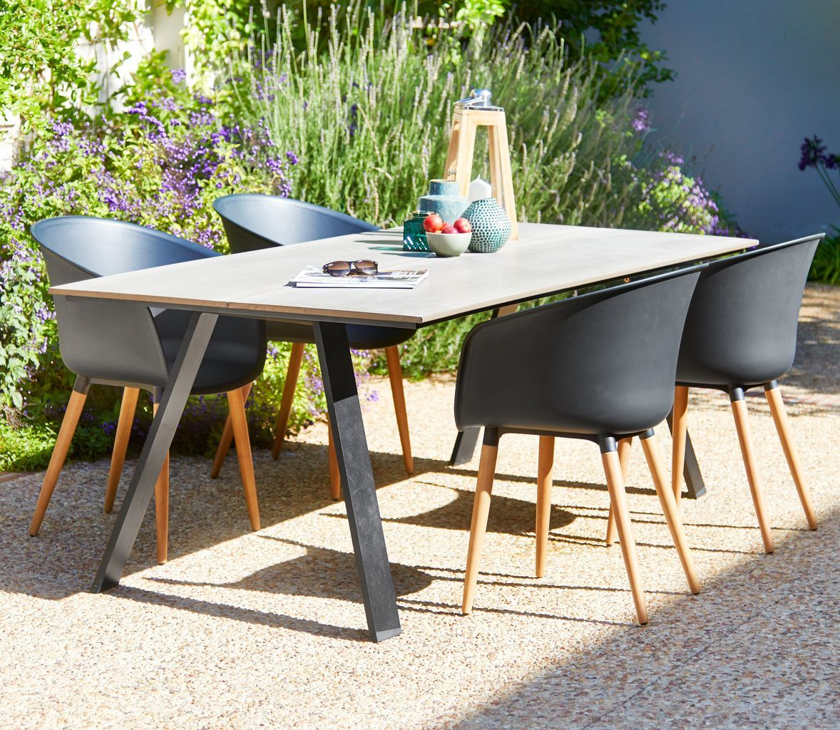 Table fausing l205cm 4 chairs varming jysk