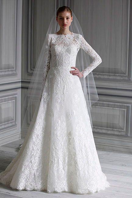 Vestidos novia encaje 2012