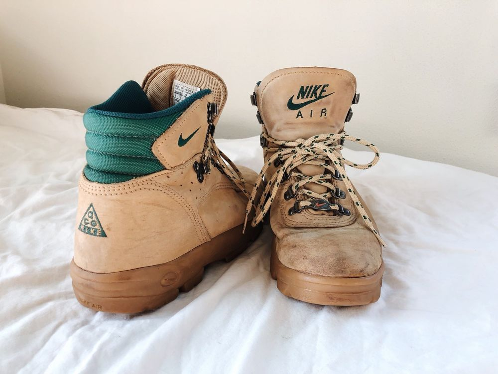 check out 86782 d5c6e VTG Nike Air ACG Boots Mens Sz 8 US Tan Leather Hiking Trail Shoes Workwear  1995  Nike  HikingTrail  nikeair  airnike  acgnike  nikeacg  acg   vintageboots ...