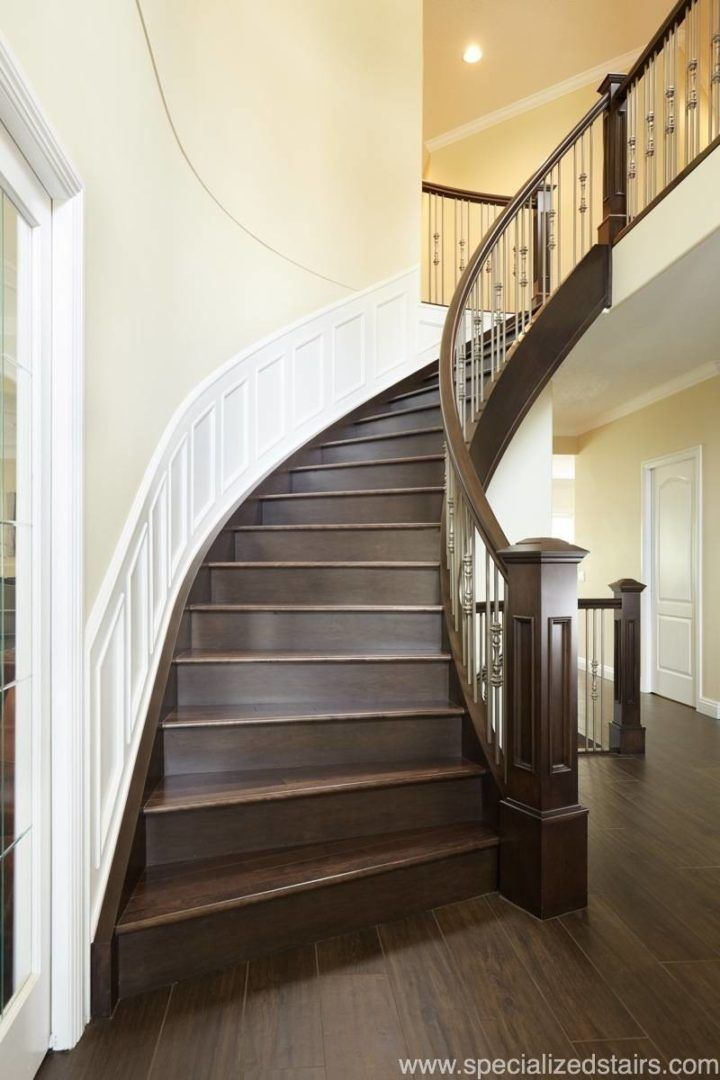 Stairs | Custom Staircase | Traditional Stairs | Flared Staircase | Custom  Railing | Newel Post